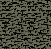 Weapon seamless background. Weapon  seamless green background Royalty Free Stock Photography