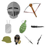 Weapon set icons in cartoon style. Big collection of weapon vector symbol stock illustration Stock Image