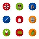 Weapon set icons in flat style. Big collection of weapon vector symbol  Royalty Free Stock Photos