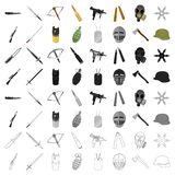 Weapon set icons. In cartoon style. Big collection of weapon vector symbol stock Stock Photos