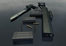 - weapon set picture 5 Royalty Free Stock Image