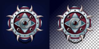 Weapon shield design for games, blogs etc. Vector game weapon. Design royalty free illustration