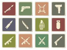 Weapon simply icons Royalty Free Stock Photo