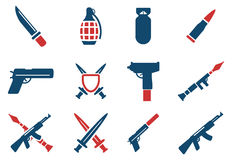 Weapon simply icons Stock Photos