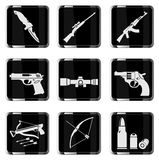 Weapon simply icons Royalty Free Stock Photography