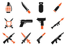Weapon simply icons Royalty Free Stock Photos