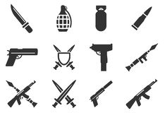 Weapon simply icons Stock Photo
