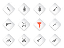 Weapon simply icons Royalty Free Stock Image