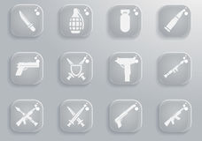 Weapon simply icons Stock Image