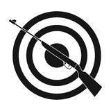 Weapon and target. Shooting gallery in an amusement park.Amusement park single icon in black style vector symbol stock. Web illustration Royalty Free Stock Photos