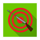 Weapon and target. Shooting gallery in an amusement park.Amusement park single icon in flat style vector symbol stock. Web illustration Stock Photography