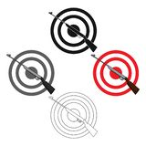 Weapon and target. Shooting gallery in an amusement park.Amusement park single icon in cartoon,black style vector symbol. Stock web illustration royalty free illustration