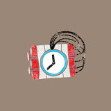 Weapon time bomb stamp Royalty Free Stock Image