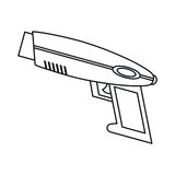 Weapon virtual reality game thin line Royalty Free Stock Photos