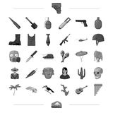 Weapon, war, defense and other web icon in black style.national, tradition, animal icons in set collection. Stock Images