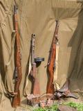 Weapon of World War. Handgun - World War II period Royalty Free Stock Photos
