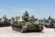 Weaponry and military equipment of the armed forces of Ukraine Stock Image