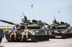 Weaponry and military equipment of the armed forces of Ukraine Stock Photography