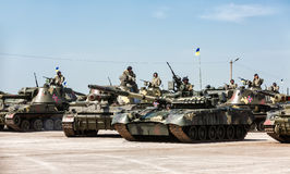 Weaponry and military equipment of the armed forces of Ukraine Royalty Free Stock Photography
