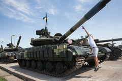 Weaponry and military equipment of the armed forces of Ukraine Stock Photo
