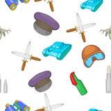 Weaponry pattern, cartoon style Stock Photography