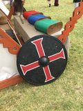Warrior shield Medieval Faire royalty free stock photography