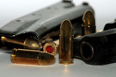 Weapons and ammunition Royalty Free Stock Photography
