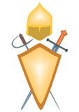 The weapons of ancient warriors. Illustration raster arms warrior - the tenth, seventeenth century, on a white background Royalty Free Stock Photography