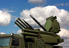 Weapons of anti-aircraft defense Royalty Free Stock Photo