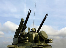 Weapons of anti-aircraft defense Tunguska Stock Photography