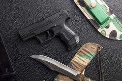 Weapons background Royalty Free Stock Photography