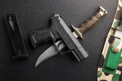 Weapons background Royalty Free Stock Photos