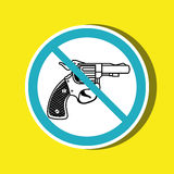 Weapons ban design. Illustration eps10 graphic Stock Photography