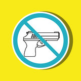 Weapons ban design. Illustration eps10 graphic Stock Photo