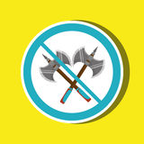 Weapons ban design. Illustration eps10 graphic Royalty Free Stock Images