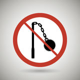 Weapons ban design. Illustration eps10 graphic Royalty Free Stock Image