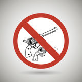 Weapons ban design. Illustration eps10 graphic Royalty Free Stock Photo