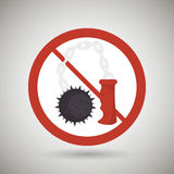Weapons ban design. Illustration eps10 graphic Royalty Free Stock Photos