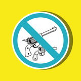 Weapons ban design. Illustration eps10 graphic Royalty Free Stock Photography
