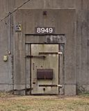 Weapons Bunker. Abandoned storage bunker door at Redstone Arsenal Royalty Free Stock Photo
