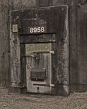 Weapons Bunker. Abandoned storage bunker door at Redstone Arsenal Stock Images