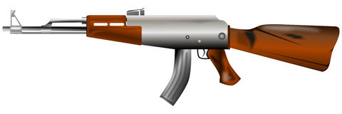 Weapons guerra.ak47 Stock Photos