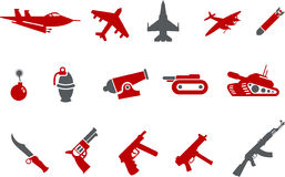 Weapons icon set Royalty Free Stock Photography