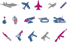 Weapons icon set Stock Photography