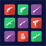 Weapons Icons Flat Design Royalty Free Stock Images