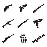 Weapons Icons Royalty Free Stock Photos