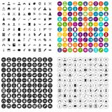 100 weapons icons set vector variant. 100 weapons icons set vector in 4 variant for any web design isolated on white Royalty Free Stock Photos
