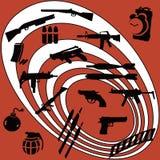 Weapons of mass destruction. In bullseye-eps file available stock illustration