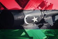 Weapons of mass destruction. Afghanistan ICBM missile. War Backg Stock Photos