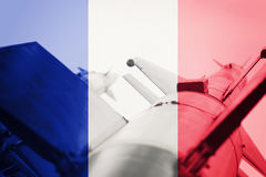 Weapons of mass destruction. France ICBM missile. War Background Royalty Free Stock Photography